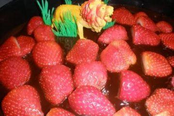"""עוגת """"האריה שאהב תות"""""""