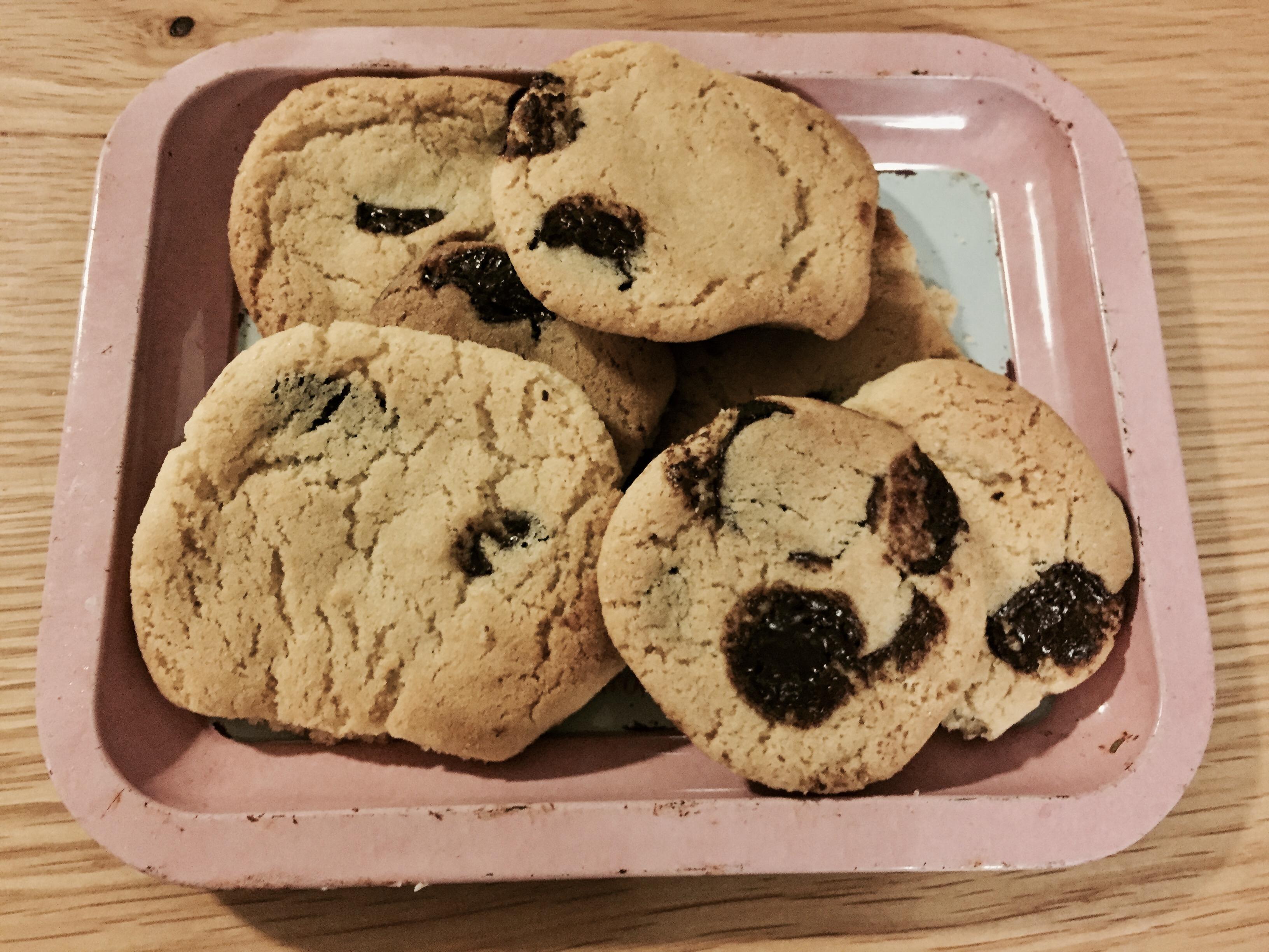 עוגיות שוקולד צ'יפס נימוחות